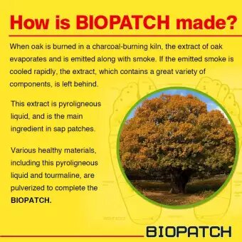 How is Biopatch made? Biopatch Forest Sap Powder - 2 Patches 6