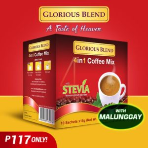 Glorious Blend 4 in 1 Coffee with Stevia 15g x 10 sachets - GIDC Phlippines