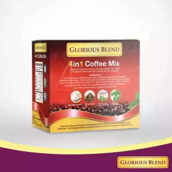 Glorious Blend 4 in 1 Coffee with Stevia 15g x 10 sachets (w/ Malunggay)
