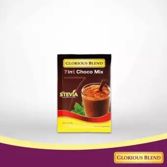 Glorious Blend 7 in 1 Choco Mix w Stevia 24g x 10 sachets 1 - GIDC Philippines
