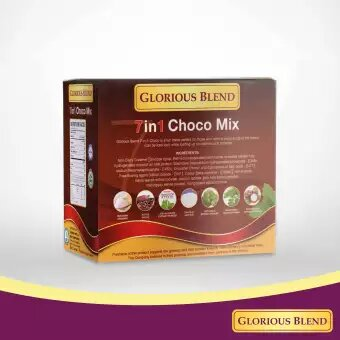 Glorious Blend 7 in 1 Choco Mix w Stevia 24g x 10 sachets 2 - GIDC Philippines