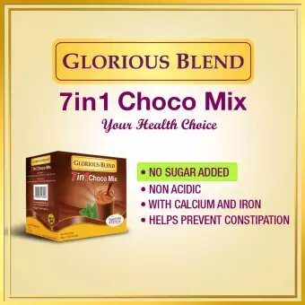 Glorious Blend 7 in 1 Choco Mix w Stevia 24g x 10 sachets 3
