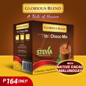 Glorious Blend 7 in 1 Choco Mix w Stevia 24g x 10 sachets - GIDC Philippines