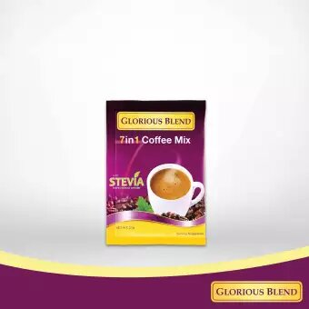Glorious Blend 7 in 1 Coffee w Stevia 21g x 7 sachets 1