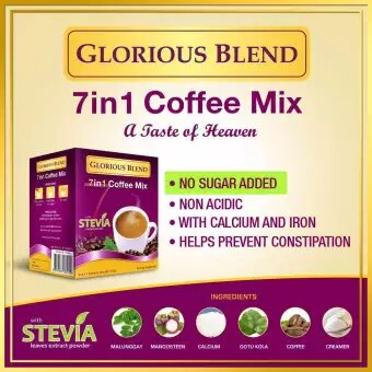 Glorious Blend 7 in 1 Coffee w Stevia 21g x 7 sachets 2