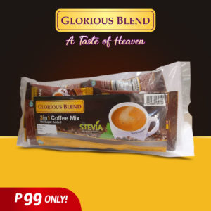 Glorious Blend 3 in 1 Coffee with Stevia 14g x 10 sachets - GIDC Philippines