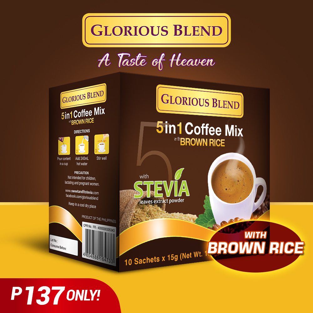 Glorious Blend 5 in 1 Coffee Mix Brown Rice - GIDC Philippines