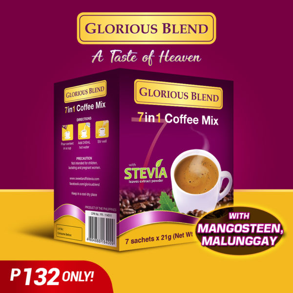 Glorious Blend 7 in 1 Coffee Mix by 7 Sachet - GIDC Philippines